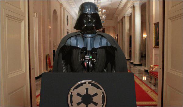 Lord Vader discourses at Coruscant