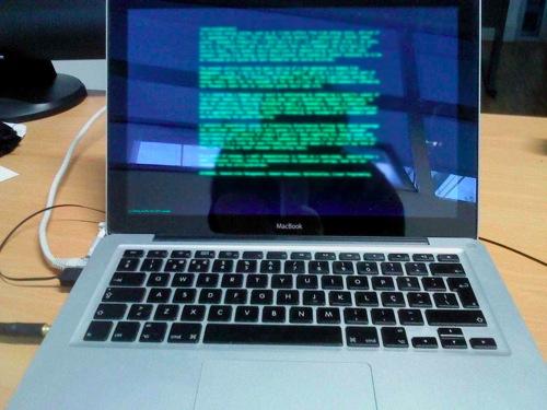 Black screen macbook with writeroom